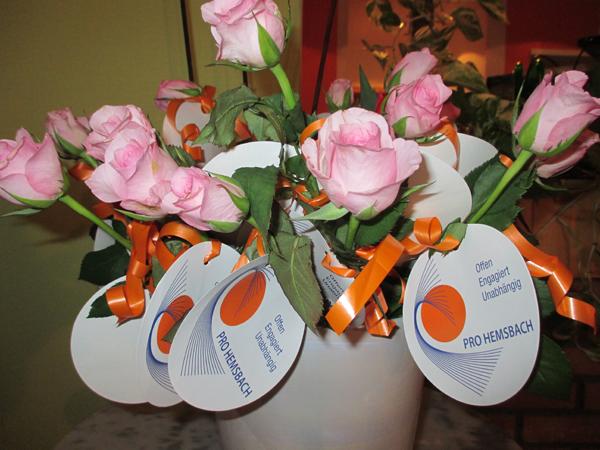 Bäckerstand am Muttertag - Blumen1