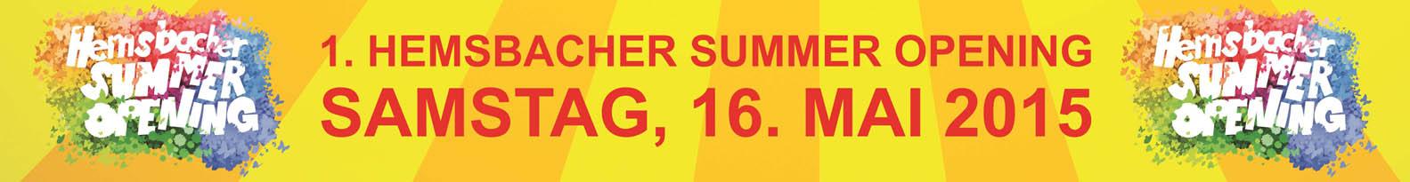 1. Hemsbacher Summer Opening - Banner