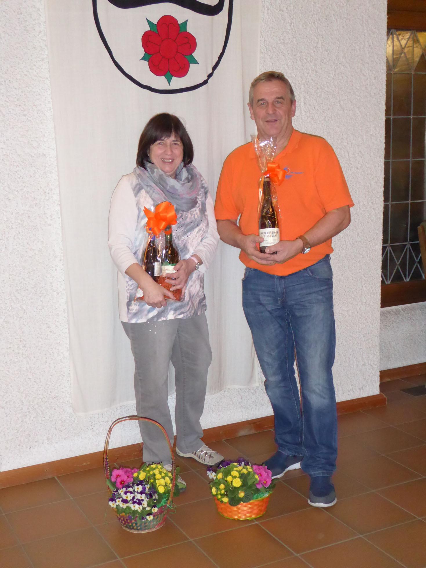 Dank für ehrenamtliches Engagement - Elke Ehret und Wolfgang Drissler