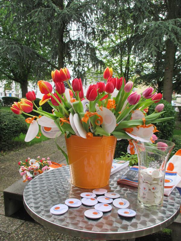 Bäckerstand am Muttertag - Blumen2